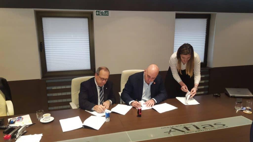 Potpisivanje ugovora o saradnji Medtronica i Atlas opšte bolnice