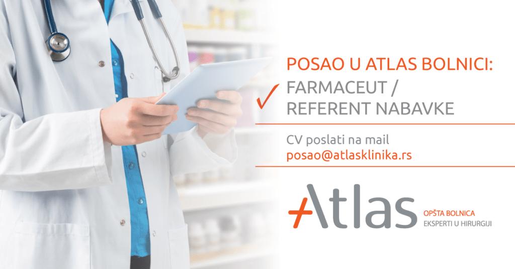 Oglas za posao - Farmaceut