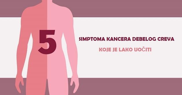 5 simptoma kancera debelog creva