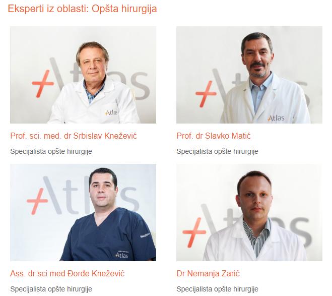 eksperti opšte hirurgije - atlas bolnica