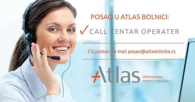 Posao u call centru Atlas bolnica