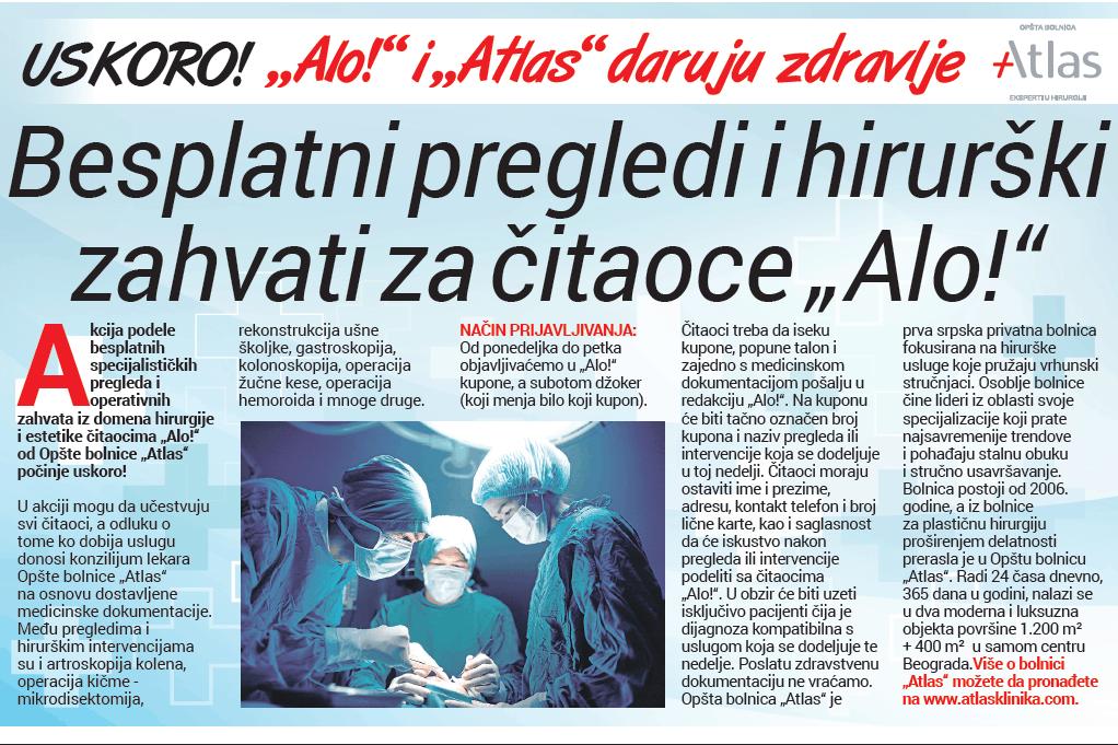Alo i Atlas daruju zdravlje