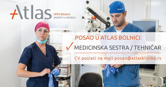 oglas za posao medicinska sestra i tehničar - Atlas