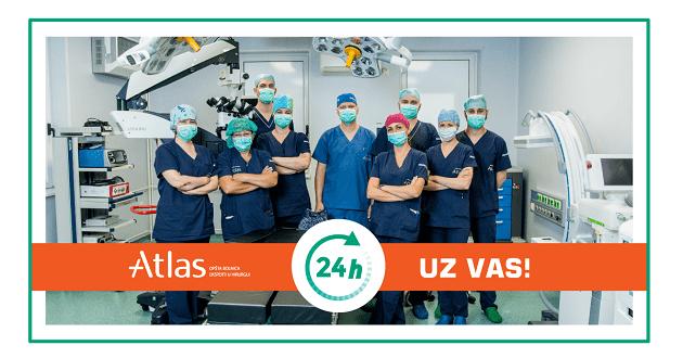 Atlas bolnica otvorena tokom pandemije korona virusa