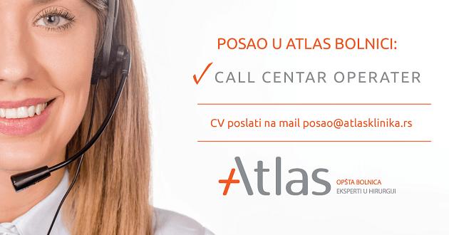 Posao u call centru - bolnica Atlas